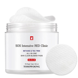 TOSOWOONG SOS Intensive RED Clinic All-In-One Skin Clear Blemish Pads 70ea