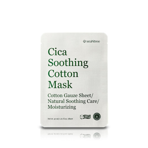 seaNtree Cica Soothing Cotton Mask 1ea